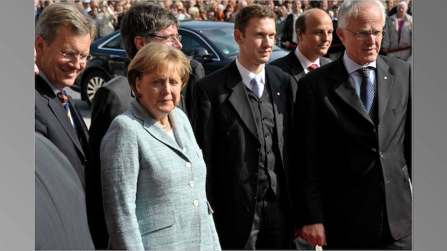 Bundeskanzlerin Angela Merkel - Ausstellung Imperium Konflikt Mythos Varusschlacht 2009
